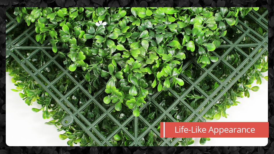 Artificial Boxwood Hedges Panels Privacy Synthetic Balcony Fencing 10x10 UV Privacy Ivy Fence Wall Home Garden Decoration2