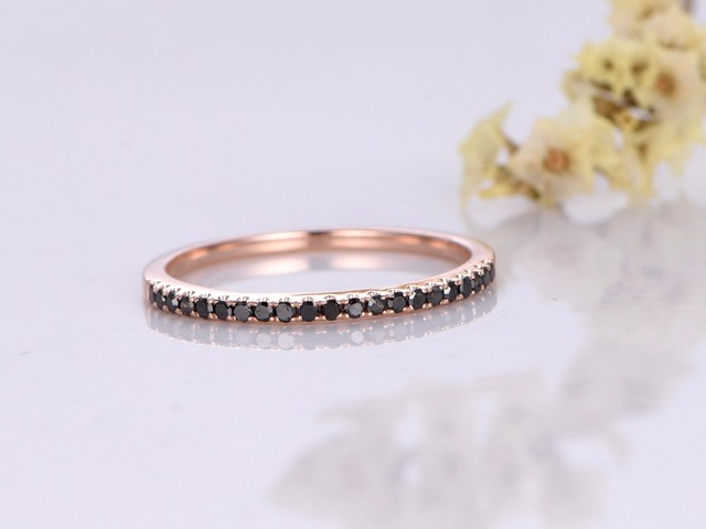 eternity band white or gold diamond black bands yellow