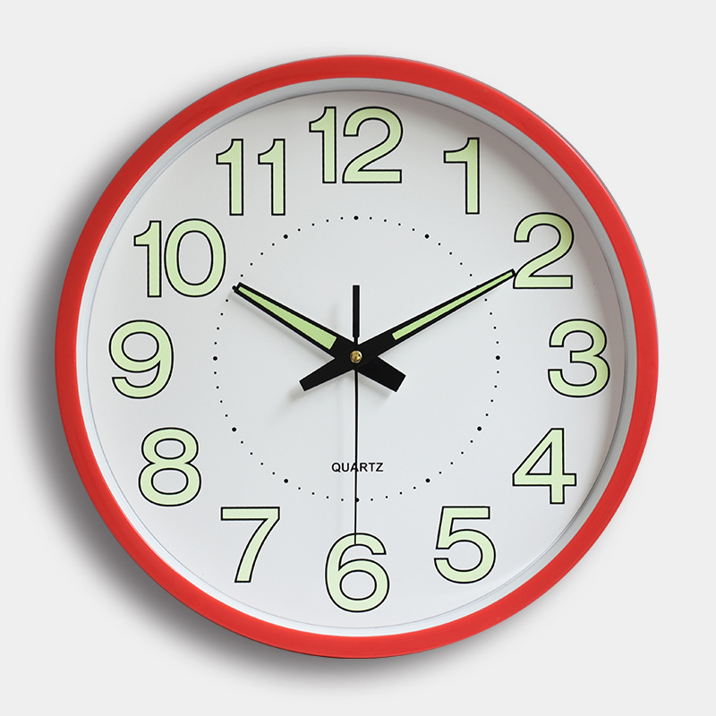12 Inches 30CM Night Wall Clock Quartz Watch Bedroom Clock Custom Mute Personality Home Decorative Fashion Needletable Simple