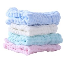 Soft Cotton Baby Handkerchief Infant Kids Towel Newborn Baby Washable Baby Child Feeding Wipe Cloth Bathing Face(China)