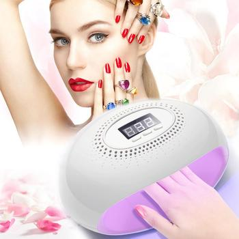 48W Dual UV LED Nail Lamp Dryer 28 LEDs Nail dryer for All Gels with 60s/80s Button All for manicure Nail Lamp