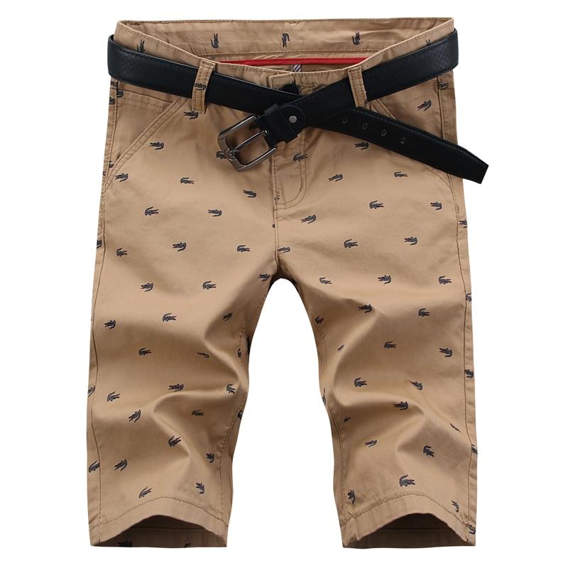 Men s summer youth fashion new Slim pants five pants straight casual pants printing