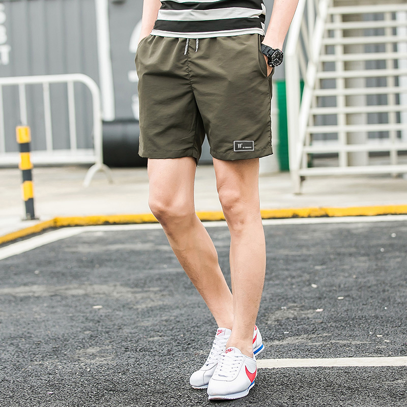 Summer Quick Drying Beach Shorts Male Casual Pure Color Shorts Mens Jogge Shorts Men Plu ...