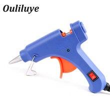 цена на Hot Melt Glue Gun 20W Handy High Temp Heater Industrial Mini Guns Electric Heat Temperature Repair Tool Industrial EU Plug