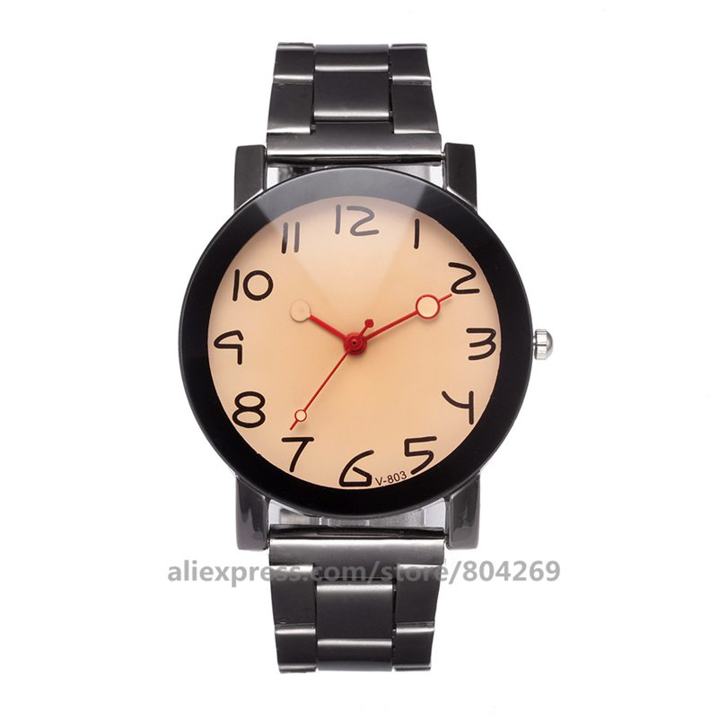 wholesale hot sale new metal man woman bracelet watch alloy couple fashion big number watches VK 803
