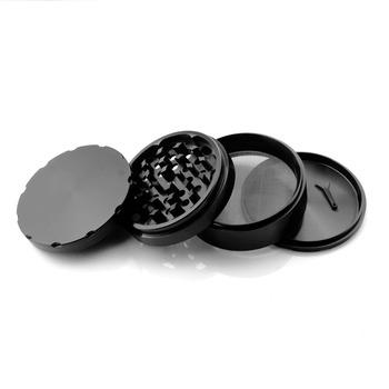 Formax420 100mm 4 części duży aluminiowy młynek do ziół młynek do palenia tytoniu w kolorze czarnym tanie i dobre opinie Bezpłatny typ Metal AFTER GROW A