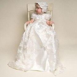 Elfenbein farbe und Zu die Länge der Neue Geburtstag Baby Kleid Baby Mädchen Taufe Kleider Baby Mädchen Taufe Kleider HB1115
