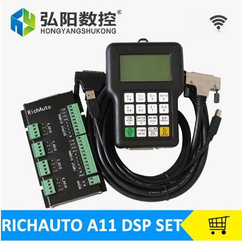 RichAuto DSP A11 CNC controller A11S A11E 3 axis Controller remote For CNC Router TECNR CNC DSP Controller-in Linear Guides from Home Improvement    1