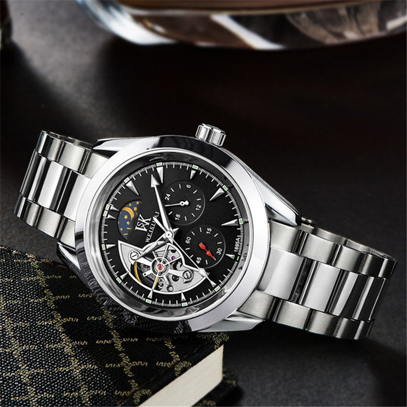 Brand Luxury full stainless steel Watch Men Business Casual waterproof Watches Military Mechanical Wristwatch Relogio SALE reloj hollow brand luxury binger wristwatch gold stainless steel casual personality trend automatic watch men orologi hot sale watches