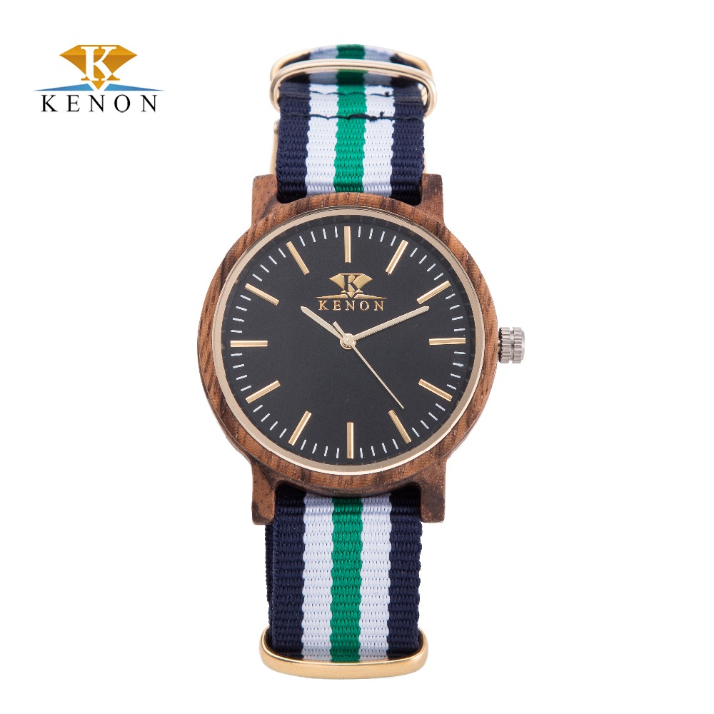 100% Nature Nylon Strap Watches New design Wooden Watch Men Women Luxury Quartz Wristwatch For Lovers Best Gift Reloj