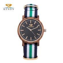 100% Nature Nylon Strap Watches New design Wooden Watch Men Women Luxury Quartz Wristwatch For Lover's Best Gift Reloj