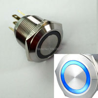 Free Shipping Micro Trip Momentary NO Anti Vandal Ring Led 22mm Push Button Switch With Stainless
