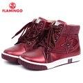 Flamingo 2016 nueva colección otoño/invierno moda niños botas de alta calidad antideslizante zapatos de los niños para niños w6xy122/123