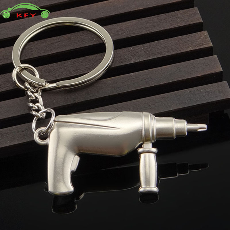 Car Keychain Auto Motorcycle Key Holder Metal Electric Drill Bag Pendant For SSANG YONG Subaru Volvo Volkswagen Hyundai Keyring