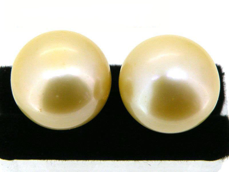 Fashion 12 mm NATURAL YELLOW South Sea Shell Pearl sterling silver Hook Boucles d/'oreilles