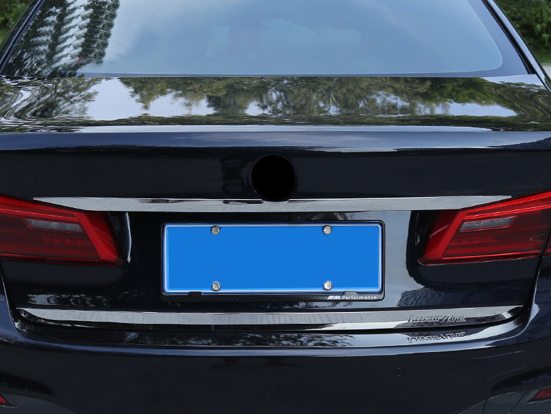 Stainless Steel Rear Trunk Lid Molding Cover Trim For BMW 5 Series G30 2017 2018