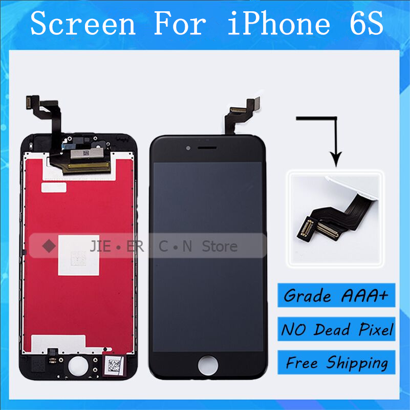5PCS/LOT Top Quality Test AAA+ For iPhone 6S LCD Screen With Good 3D Touch Display Replacement Assembly Free DHL 3pcs lot quality aaa lcd display for iphone 6s plus lcd screen lg brand digitizer touch assembly lifetime warranty dhl free ship