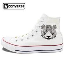 Design Animal Converse Shoes for Men Women Original Panda White Black Canvas Sneakers Unisex High Top Skateboarding Shoes