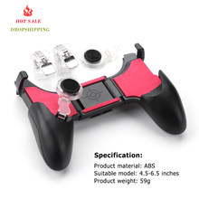 5 in 1 PUBG Moible Controller Gamepad Free Fire L1 R1 Triggers PUGB Mobile Game Pad Grip L1R1 Joystick for iPhone Android Phone(China)