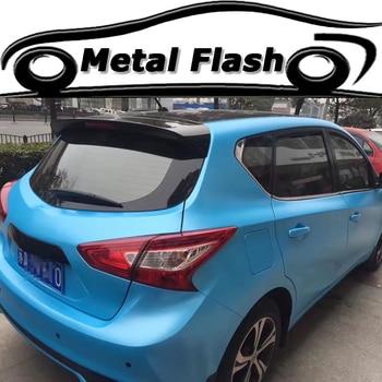 ORINO Metallic Sky Blue Metal Flash Vinyl Film Blue Car Wraps Foil With Air Bubble Free Car Styling Vehicle Sticker Decal