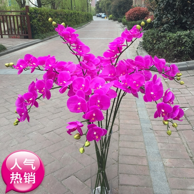 offer high end simulation feel butterfly orchid orchid silk flower ...