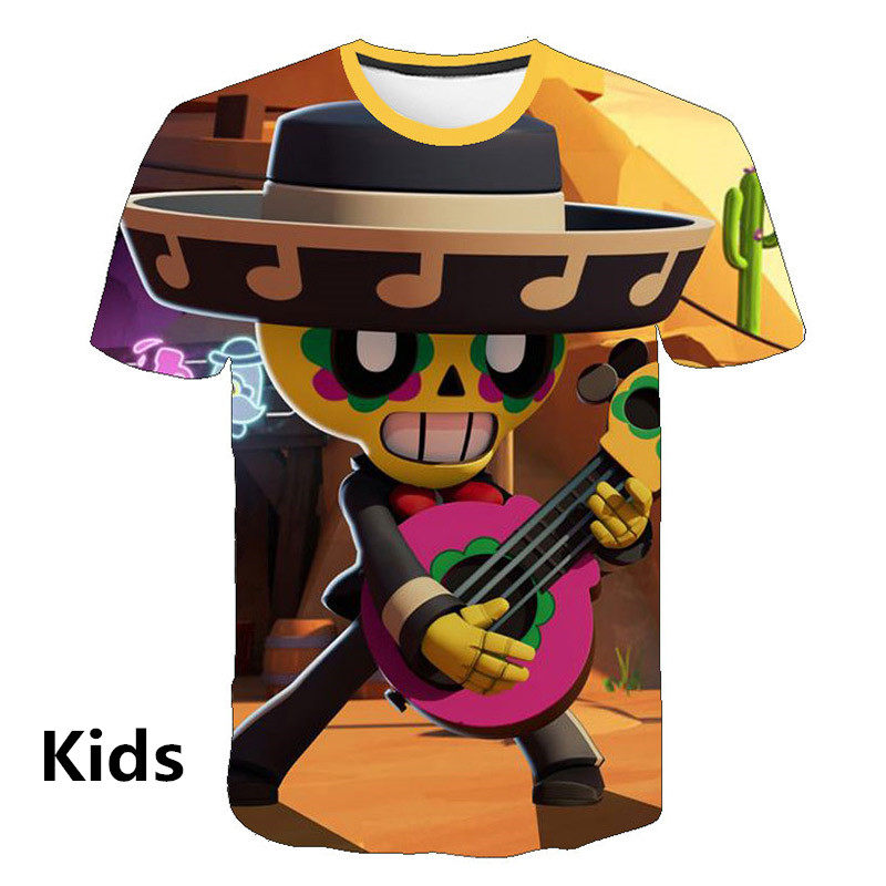 Funny 3D Printed   T     Shirts   Spring Tops Game Brawl Stars Summer Tees Men Short Sleeve Cool Personaity Printing   T     Shirts   Fashion