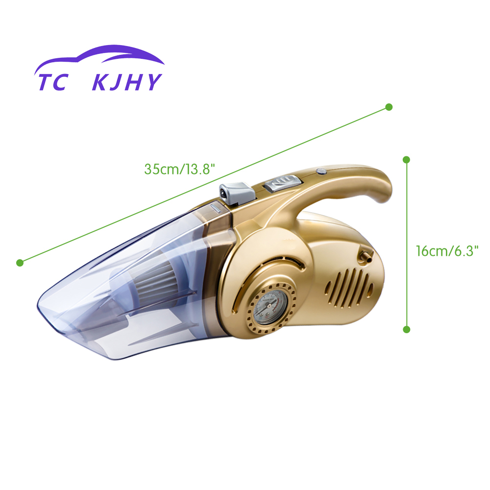 2018 Auto Car Vacuum Cleaner 4 In1 Multi-function 120W Wet and Dry Dual UseTire Inflator Pump Auto Air Compressor with LED Light