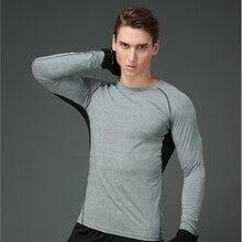 Men Long Sleeve T-shirt Sport Underwear Men's Body Shaper Quick-dry Compression T-shirts Summer Sports Wear