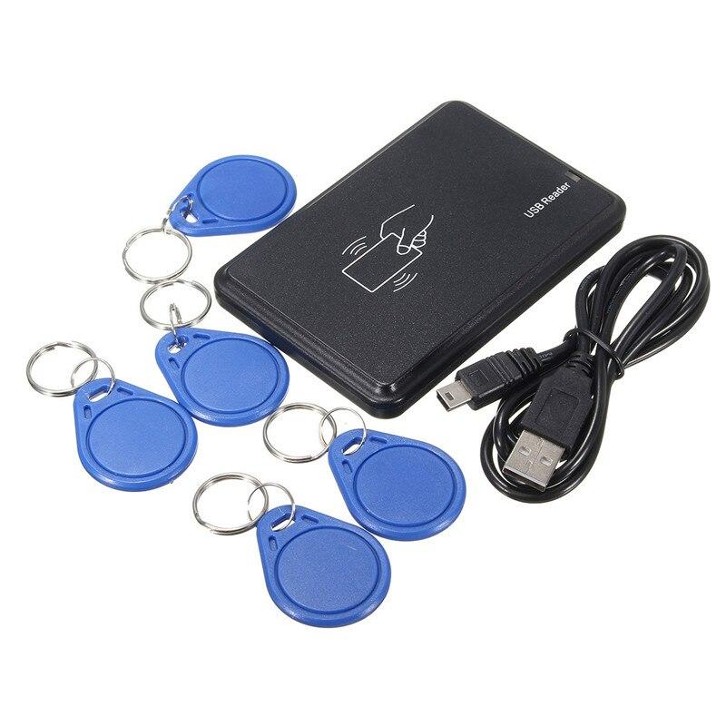 imágenes para USB 125 khz RFID Leer Escritor Duplicadora Copiadora Duplicar Compatible Con 5 Etiquetas de la Retención de Datos de Calidad Duradera
