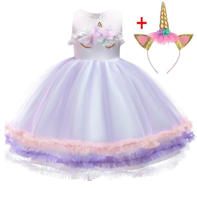 HTB1Jts5ainrK1Rjy1Xcq6yeDVXau Unicorn Dresses For Elsa Costume Carnival Christmas Kids Dresses For Girls Birthday Princess Dress Children Party Dress fantasia