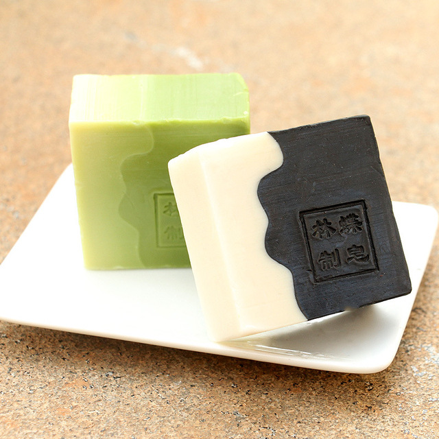 Hot selling Matcha, bamboo charcoal, handmade soap, oil control, black headed anti acne Moisturizing Cleansing free shipping