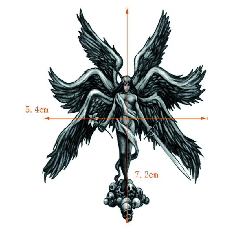 Шесть крыльев боев Ангел Габриэль водонепроницаемые Временные Татуировки Мужчины хна тату боди-арт поддельные татуировки флэш тату наклейки