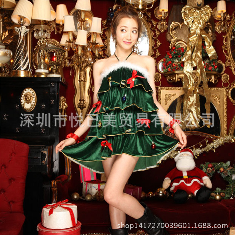 Deguisement Adultes Girl Costume Limited 2016 Fashion Autumn And Winter New Explosion, Christmas Party Cosplay Dress Tree Green