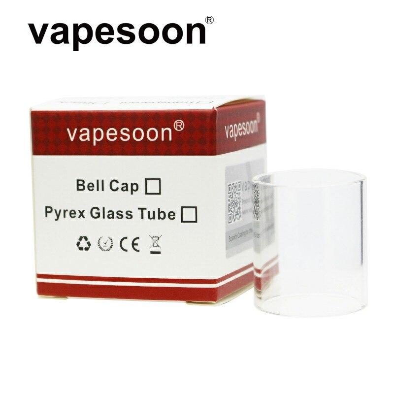 Wholesale 50pcs/lot VapeSoon Replacement Glass Tube For TFV8 BIG BABY TFV12 IJUST S Vape Pen Plus Revenger NRG 5ML Target Pro