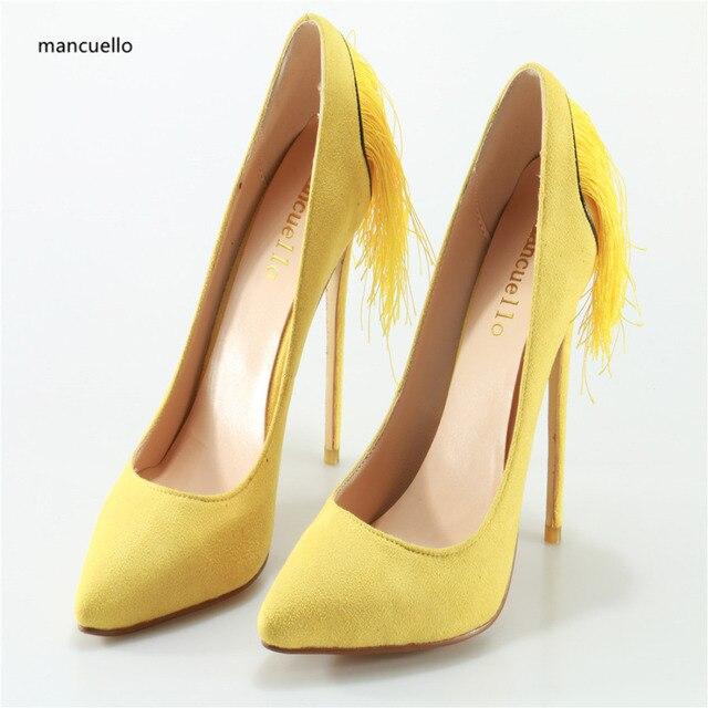 Chaussures talons de femme Pointu Jaune 0WpjlaHncA