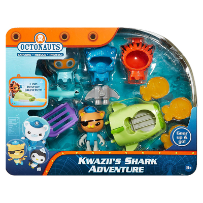 original Octonauts Kwazii's adventure resure explore set figures birthday gift bath toy child цена 2017