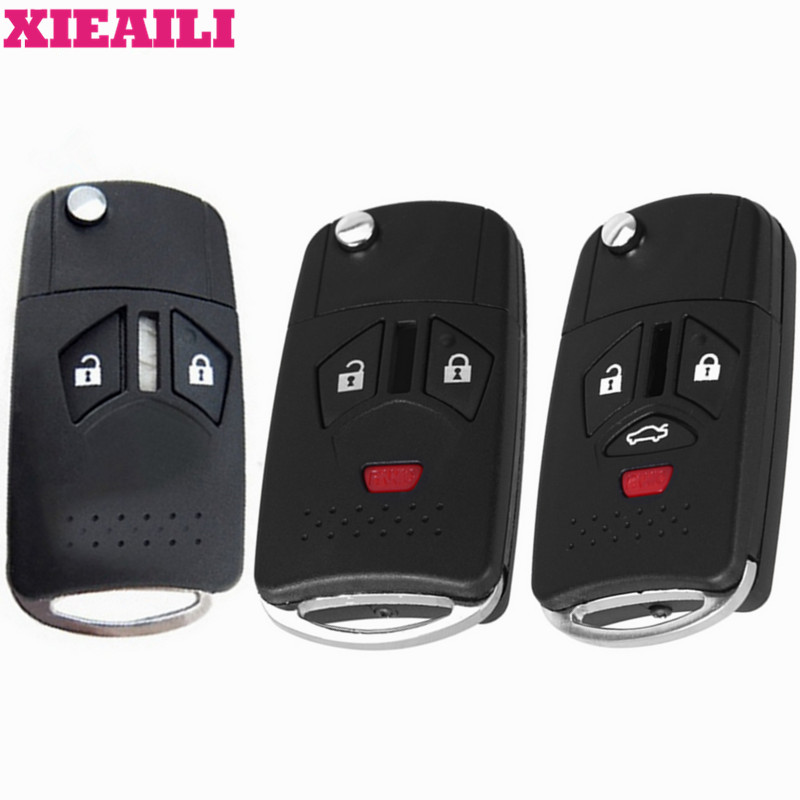 XIEAILI 10Pcs/lot For Replacement Blank Modified Flip Folding Remote Key Shell For MItsubishi Eclipse S331