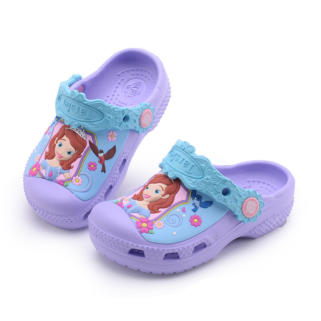 2018 קיץ אופנה ילדים Cartoon סופיה מערת נעלי בנים ובנות מערכות ספיידרמן תינוק כפכפים חוף כפכפים ילדים