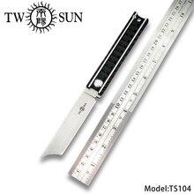 TWOSUN d2 blade folding Pocket Knife tactical knives camping knife hunting outdoor tool EDC Titanium Ball Bearing Railway TS104 цена и фото