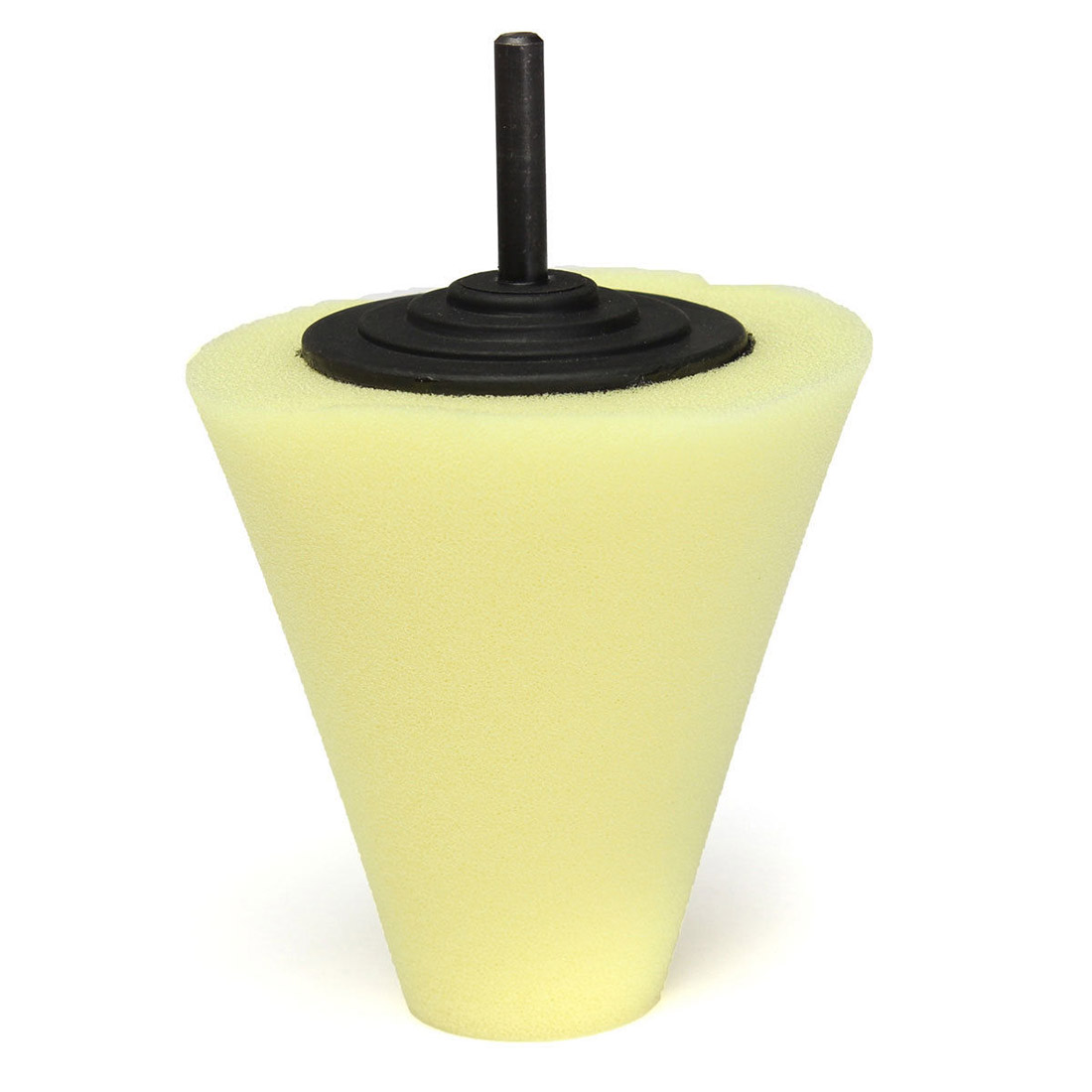 Sponge Cone Polishing Auto Buffer Pad adapter Drill Yellow