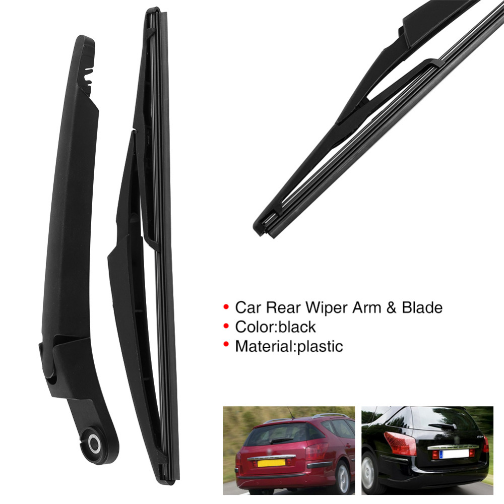 Car Rear Window Windshield Wiper Arm and Blade Complete Replacement Set for Citroen C5 2001-2008 for Peugeot 407SW 2004-2015