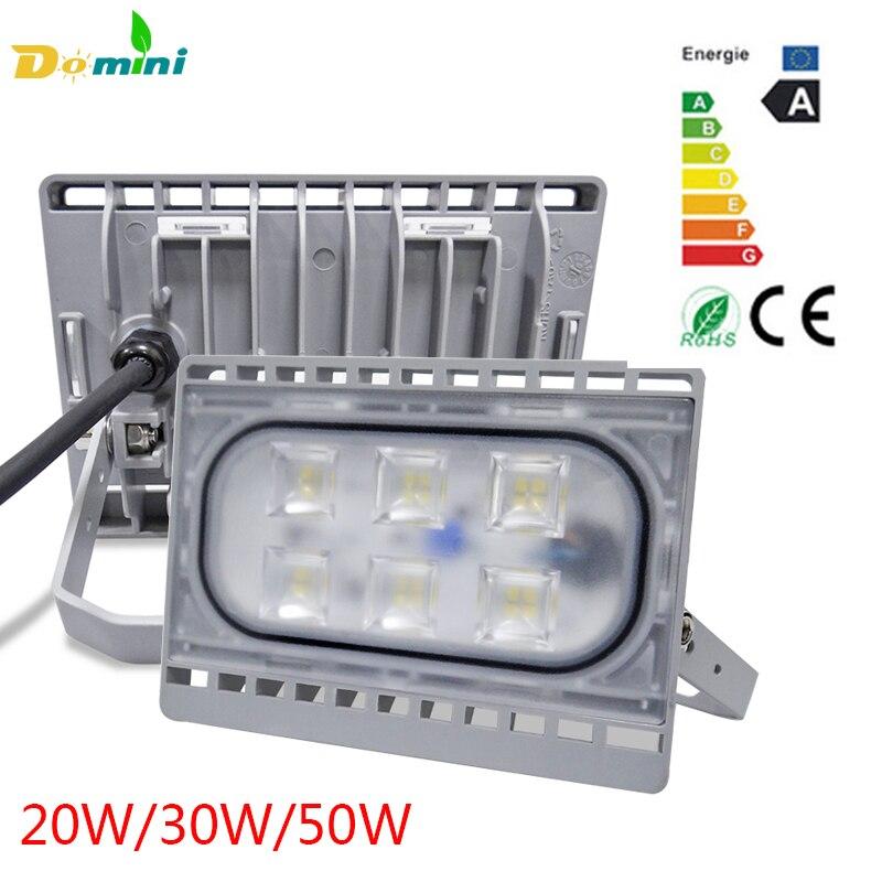 LED Outdoor Spotlight 50W 30W 20W Led Flood IP65 Waterproof Ultrathin Lamp Floodlight Landscape Reflector Outdoor Wall Lamp