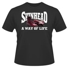 Mens T-Shirt, Skinhead A Way Of Life Ideal Birthday Gift Present. New T Shirts Funny Tops Tee Unisex