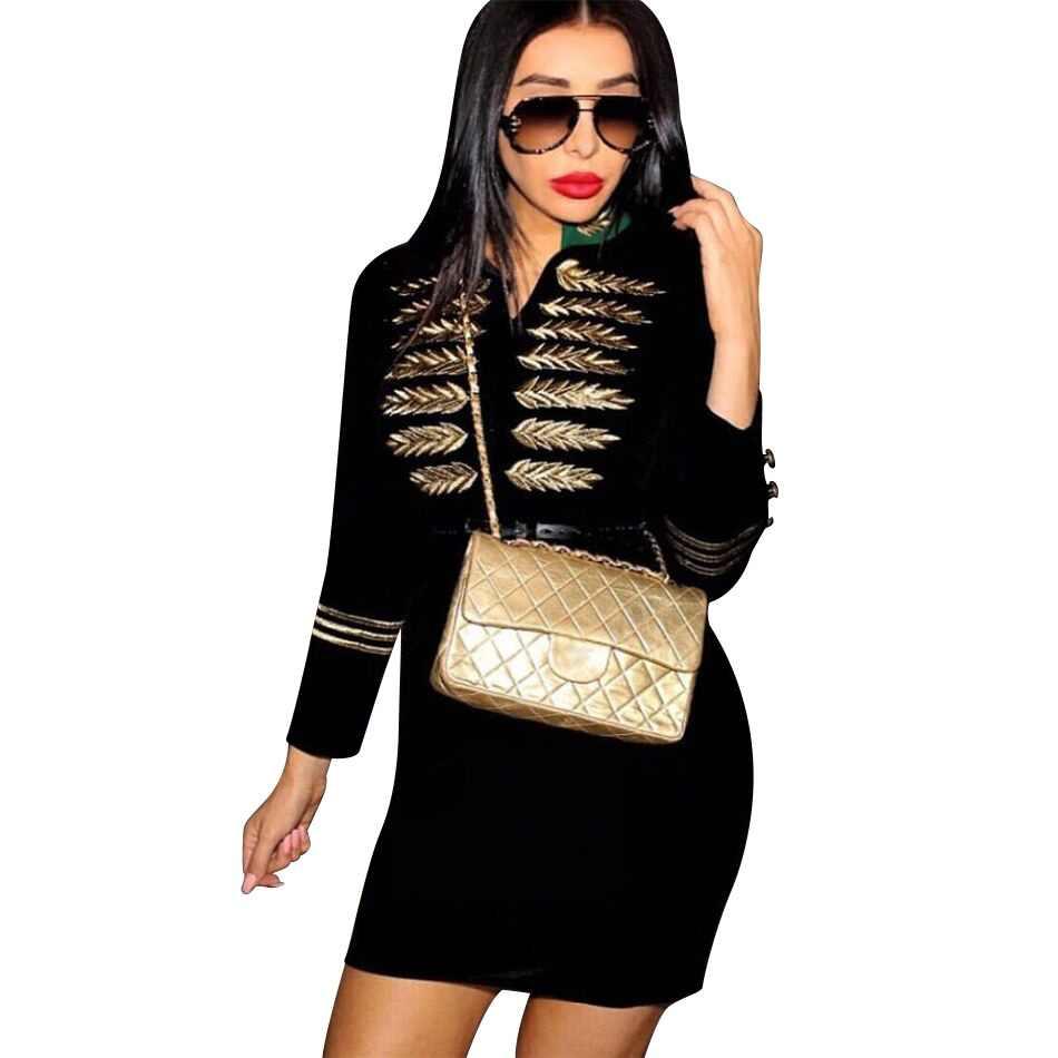 ADYCE 2019 New Spring Celebrity Party Bandage Dress Women Long Sleeve V  Neck Sexy Black Mini 482eccd9075c