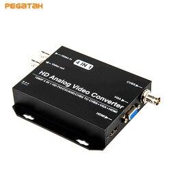 Новейший 720P 1080P HD AHD CVI TVI CVBS к HDMI VGA CVBS 4 в 1 видео конвертер Поддержка AHD CVI TVI CVBS loop output