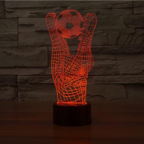 Us 18 0 3d Lampe Alligator Backen 3d Crocodile Fussball Fussball Illusion Touch Lampe 7 Farben Andern Optical Illusion Led Lampe Hologramm In 3d Lampe