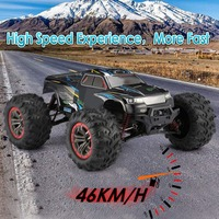 9125 4WD 1/10 High Speed 46km/h Electric Supersonic Truck Off Road Vehicle Buggy RC Racing Car Electronic Toys RTR High Quality