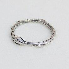 Ouroboros ring Charming alte silber überzogene ring, die alte weisen