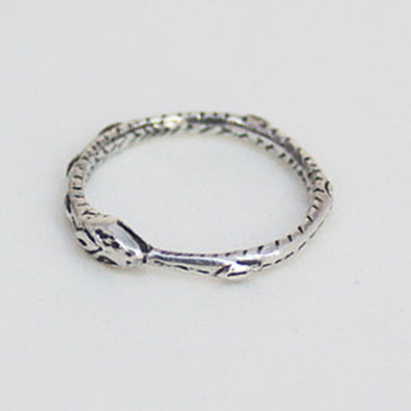 Ouroboros ring Charming ancient silver plated ring restoring ancient wayssilver ringouroboros ringring charms