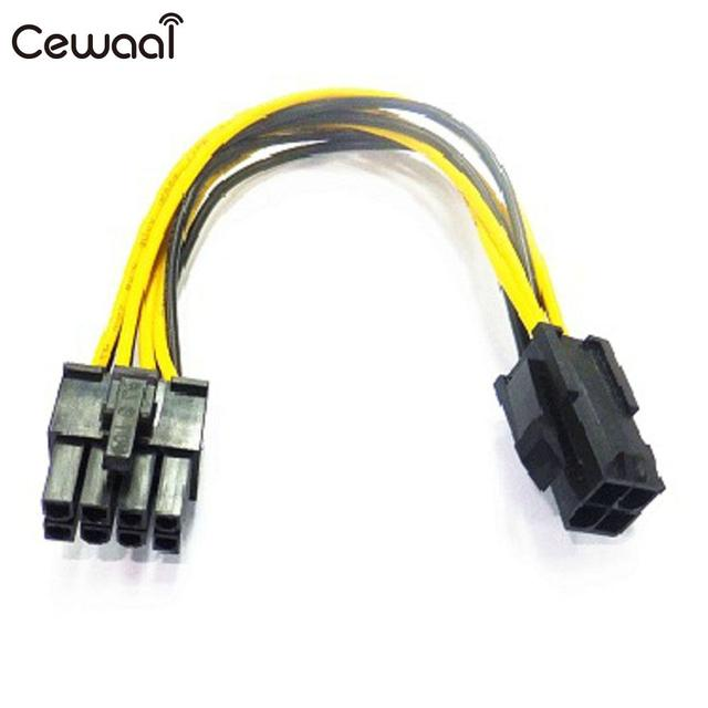 Cewaal Adapter Motherboard Power Graphic Cable Converter Supply Cord ...
